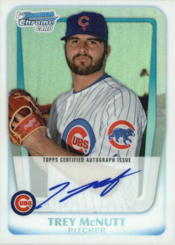 Photo of 2011 Bowman Chrome Prospect Autographs Refractors #BCP180 Trey McNutt