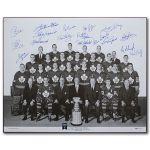 1967 Toronto Maple Leafs Team-Signed Limited-Edition 16X20 Lithograph