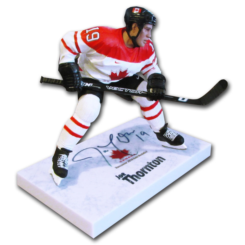 Joe Thornton Autographed 2010 Team Canada McFarlane Figurine (San Jose Sharks)