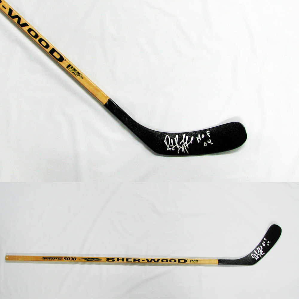 RAY BOURQUE Signed Sher-Wood Stick Inscribed HOF 04 - Boston Bruins