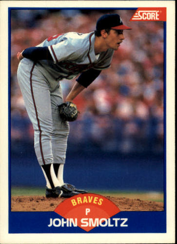 Photo of 1989 Score #616 John Smoltz -- Atlanta Braves rookie card