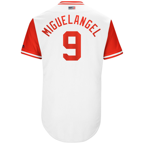 "Photo of Jose ""Miguel Angel"" Peraza Cincinnati Reds Game-Used Players Weekend Jersey"