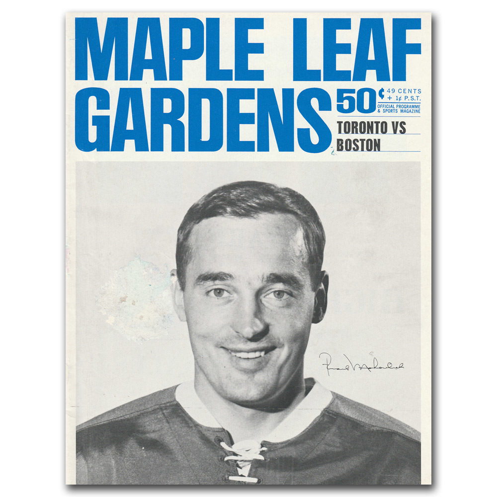 Toronto Maple Leafs Program - January 1, 1966