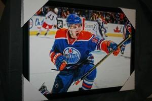 Connor McDavid - Edmonton Oilers 20x29 Canvas - 1st Game Back Goal Celebration