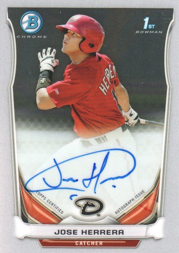 Photo of 2014 Bowman Chrome Prospect Autographs #BCAPJH Jose Herrera