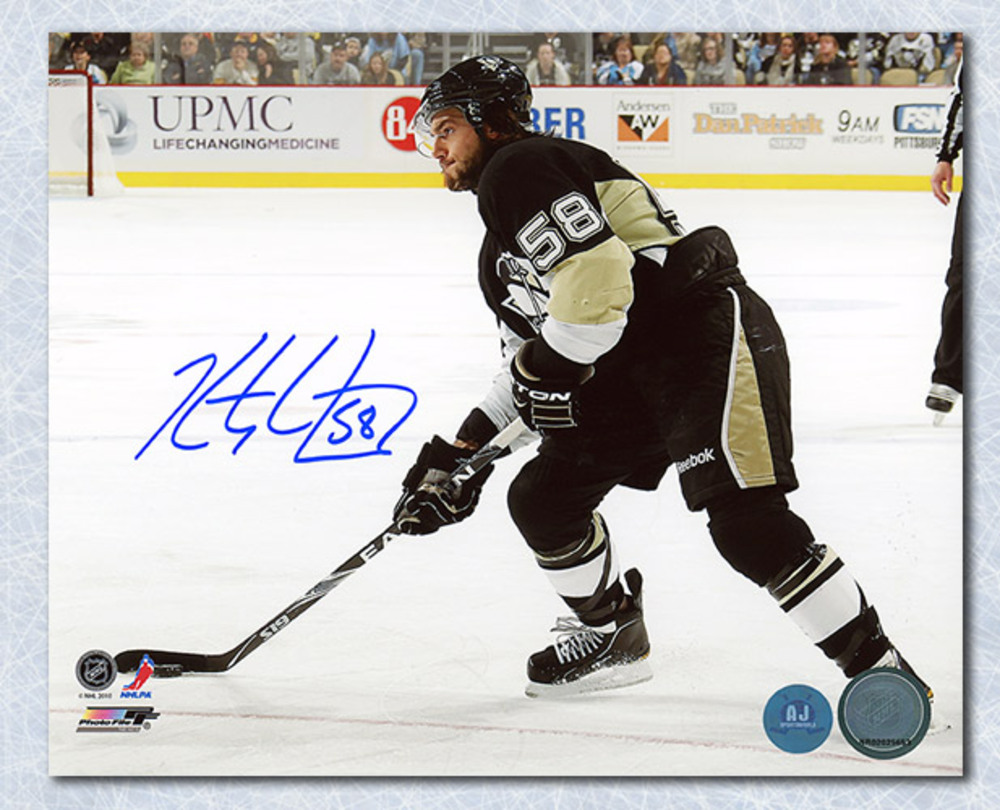 Kris Letang Pittsburgh Penguins Autographed Playmaker 8x10 Photo