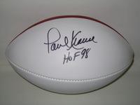 HOF - BROWNS PAUL WARFIELD SIGNED PANEL BALL