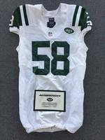 New York Jets - 2014 #58 Jason Babin Game Worn Jersey