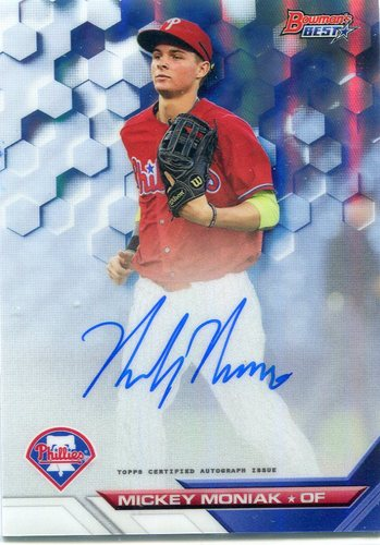 Photo of 2016 Bowman's Best Best of '16 Autographs Refractors #B16MM Mickey Moniak