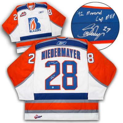 Scott Niedermayer Kamloops Blazers Signed & Inscribed CHL Hockey Jersey