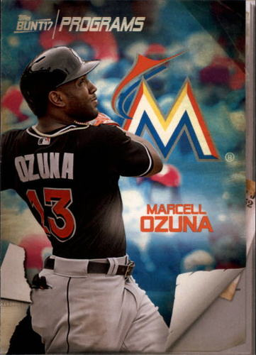 Photo of 2017 Topps Bunt Programs #PRMO Marcell Ozuna