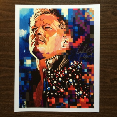 "Photo of Chris Jericho SIGNED 11"" x 14"" Rob Schamberger Print"