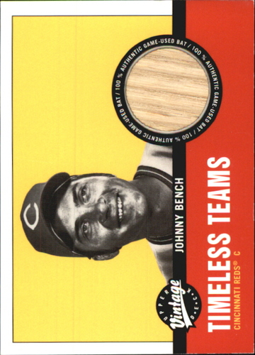 Photo of 2001 Upper Deck Vintage Timeless Teams #CI2JB Johnny Bench Bat