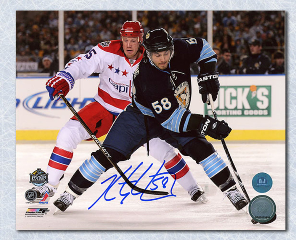 Kris Letang Pittsburgh Penguins Autographed 2011 Winter Classic 8x10 Photo