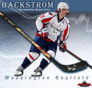 NICKLAS BACKSTROM Signed Bauer Stick - Washington Capitals