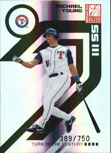 Photo of 2005 Donruss Elite Turn of the Century #145 Michael Young