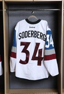 Carl Soderberg Colorado Avalanche Game Worn Stadium Series Jersey