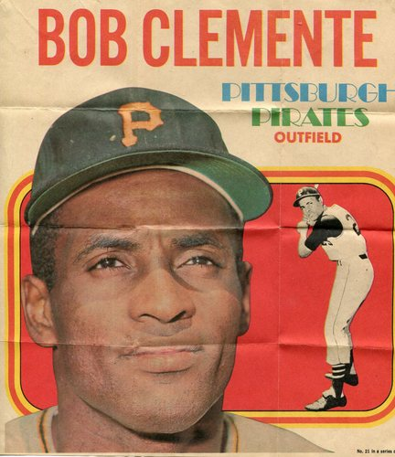 Photo of 1970 Topps Posters Inserts #21 Roberto Clemente