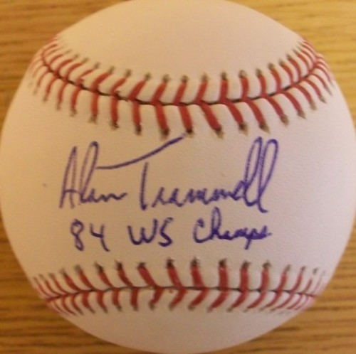 "Photo of Alan Trammell ""84 WS Champs"" Autographed Baseball"