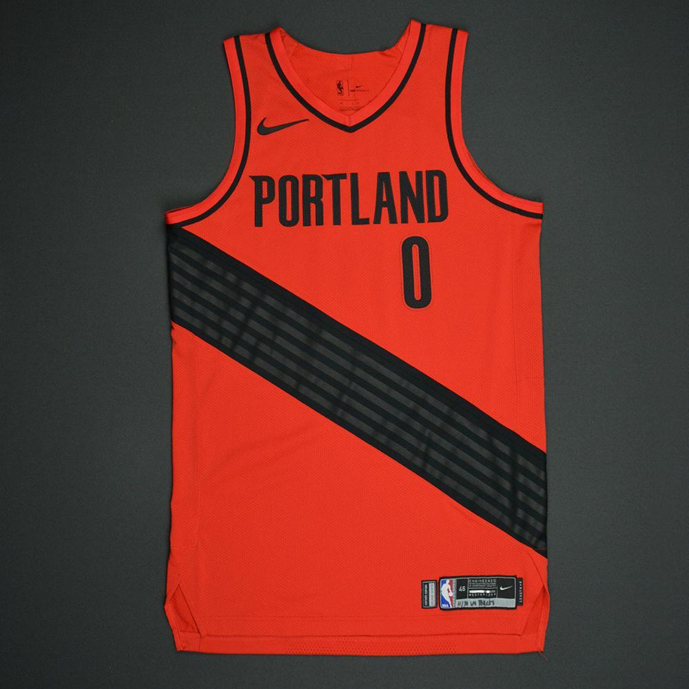 Damian Lillard - Portland Trail Blazers - Statement Game-Worn Jersey - 2017-18 Season