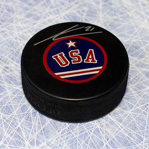 James van Riemsdyk Team USA Autographed Hockey Puck
