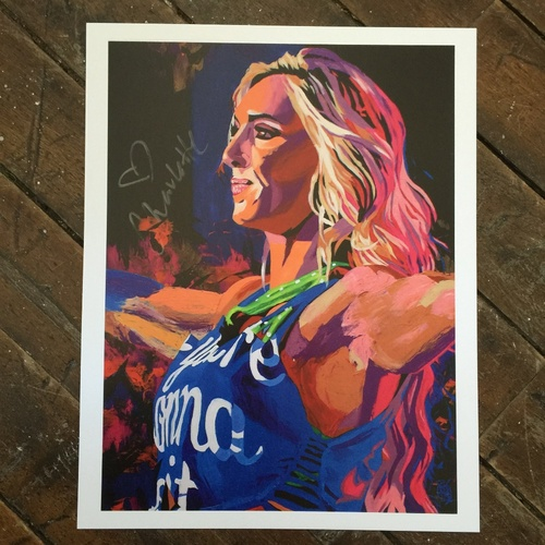 "Photo of Charlotte SIGNED 11"" x 14"" Rob Schamberger Print"
