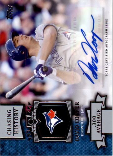 Photo of 2013 Topps Chasing History Autographs #DC David Cooper S2