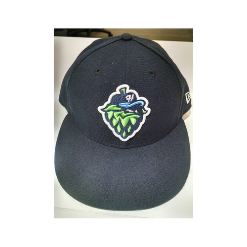Photo of Dansby Swanson FIRST Professional Game-Used Cap from PRO DEBUT on August 12, 2015