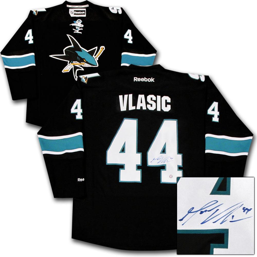 Marc-Edouard Vlasic Autographed San Jose Sharks Jersey
