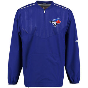 Toronto Blue Jays Authentic Collection Long Sleeve Training Jacket by Majestic