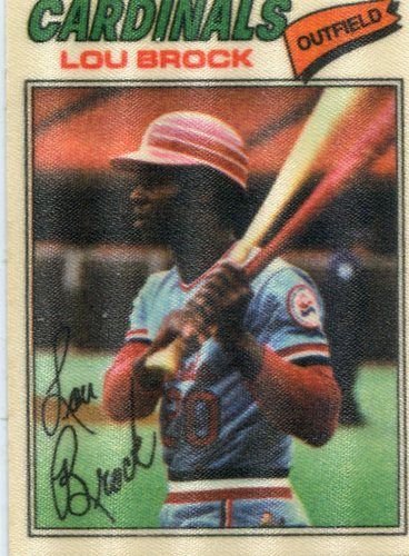 Photo of 1977 Topps Cloth Stickers #8 Lou Brock
