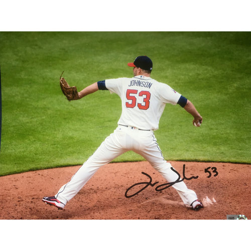 Photo of Braves Charity Auction - Jim Johnson Autographed 8x10 Photo