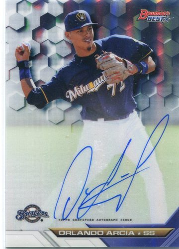 Photo of 2016 Bowman's Best Best of '16 Autographs Refractors #B16OAR Orlando Arcia