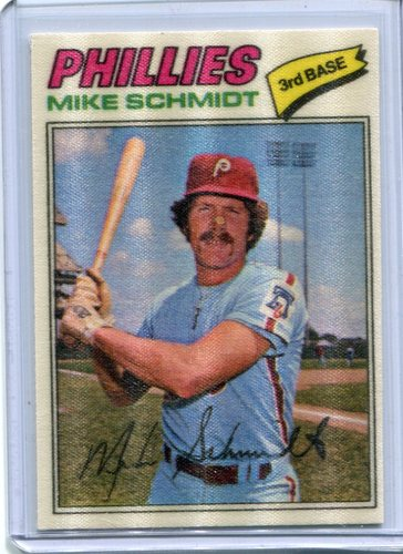 Photo of 1977 Topps Cloth Stickers #41 Mike Schmidt
