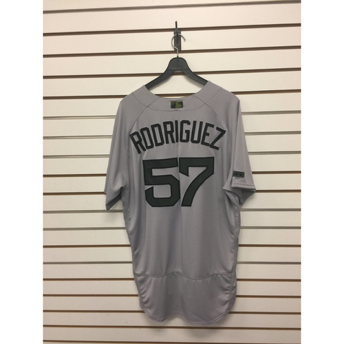 Photo of Victor Rodriguez Game-Used May 29, 2017 Memorial Day Road Jersey