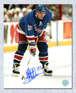 Jeff Beukeboom New York Rangers Autographed Face-Off Ready 8x10 Photo