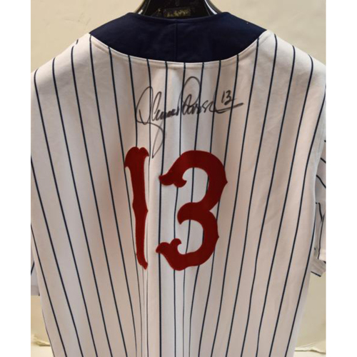 Photo of Lance Parrish Detroit Tigers Autographed Game Worn #13 Detroit Stars Negro Leagues Tribute Game Jersey