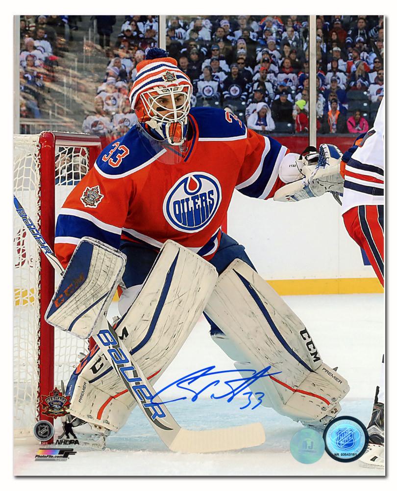 Cam Talbot Edmonton Oilers Autographed 2016 Heritage Classic Game 8x10 Photo