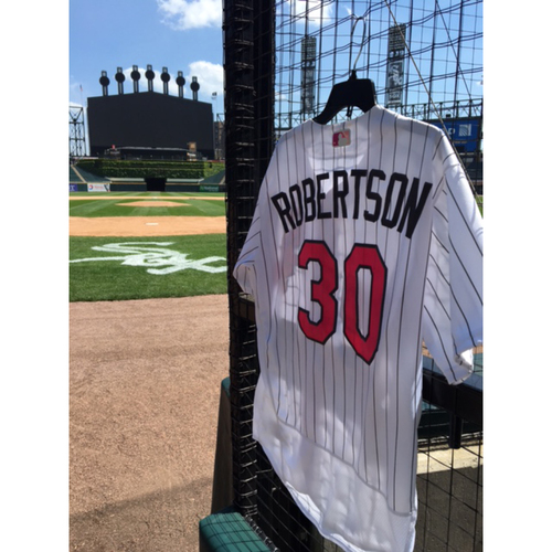Photo of David Robertson Game-Used 2017 Mother's Day Jersey - Size 46