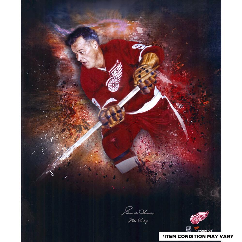 Gordie Howe Detroit Red Wings Autographed 20