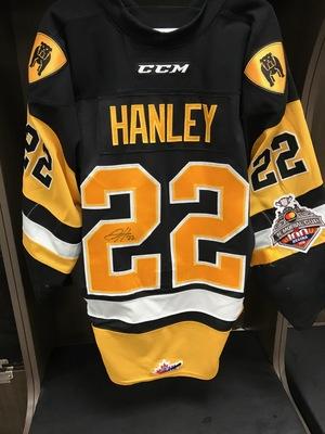 JACK HANLEY GAME WORN & SIGNED JERSEY