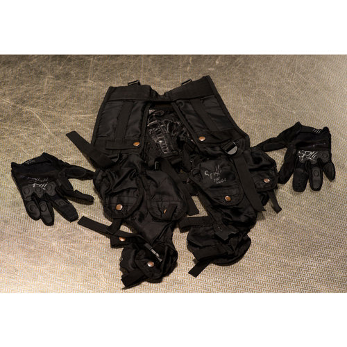 SIGNED & WORN Seth Rollins Tactical Gear Set