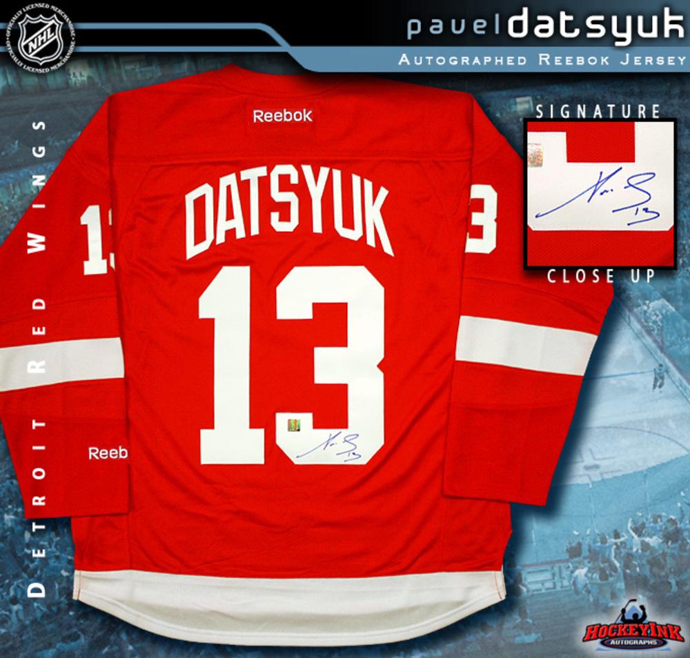 PAVEL DATSYUK Signed RBK Premier Red Detroit Red Wings Jersey