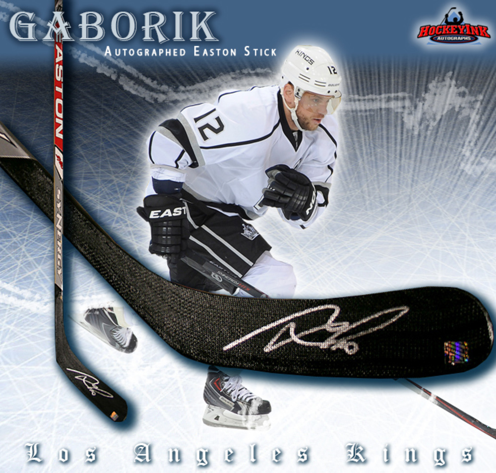 MARIAN GABORIK Signed Easton Hockey Stick - Los Angeles Kings