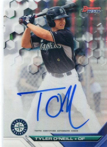 Photo of 2016 Bowman's Best Best of '16 Autographs Refractors #B16TO Tyler O'Neill