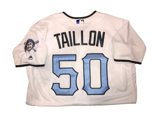Photo of Jameson Taillon Game-Used Father's Day Weekend Jersey - Worn on 6/17 & 6/18