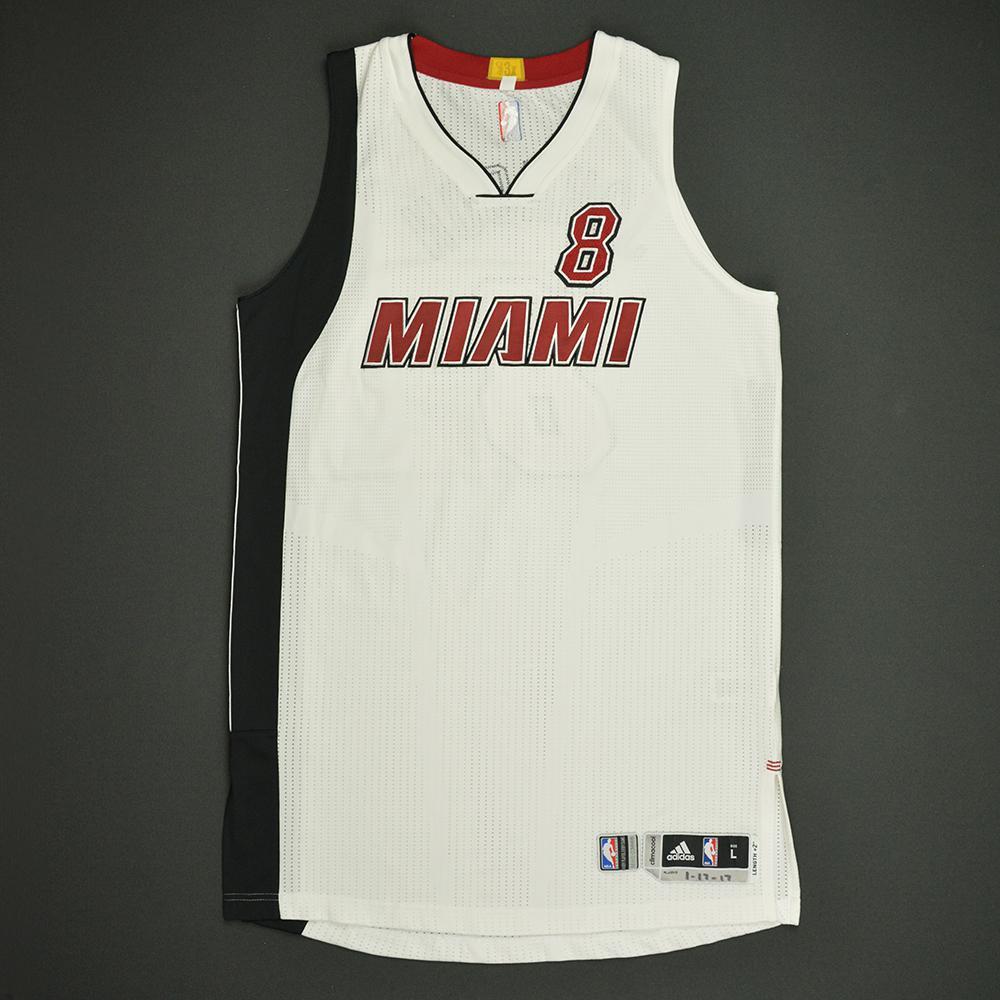 Tyler Johnson - Miami Heat - Game-Worn White Alternate Jersey - 2016-17 Season