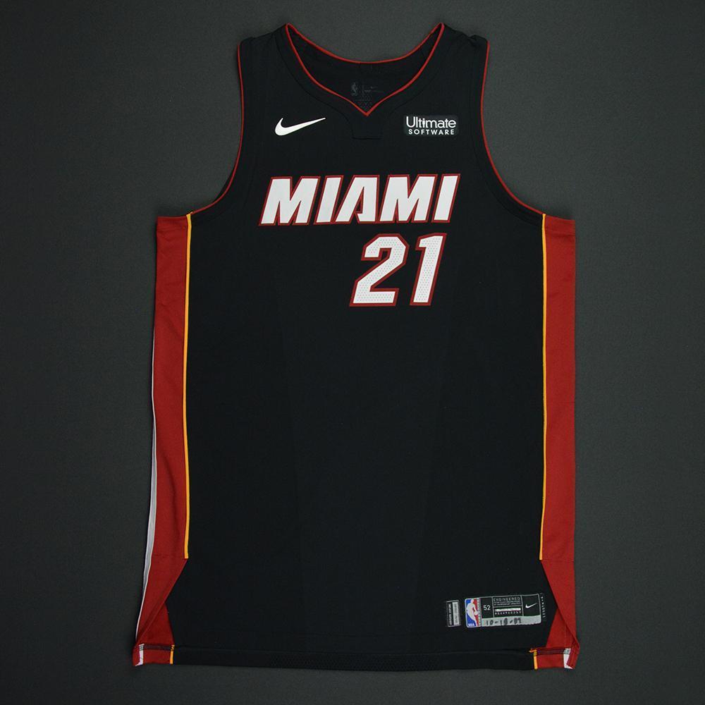 Hassan Whiteside - Miami Heat - Kia NBA Tip-Off 2017 - Game-Worn Jersey - Double-Double