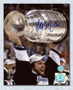 Martin St. Louis Tampa Bay Lightning Autographed 2004 Stanley Cup 8x10 Photo