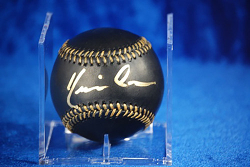 Photo of Kevin Costner Autographed Black Baseball